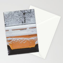 Yellow minivan at Paris Stationery Cards