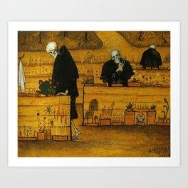 THE GARDEN OF DEATH - HUGO SIMBERG Art Print
