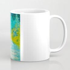 SEASIDE DREAMS - Beautiful Ocean Waves Teal Blue Turquoise Chartreuse Underwater Abstract Painting Mug
