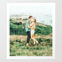 Togetherness #painting Art Print