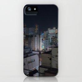 City urban downtown night iPhone Case