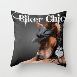 Biker Chic Throw Pillow
