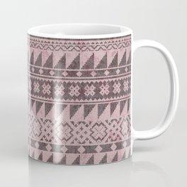 triangle kilim in pale pink Coffee Mug