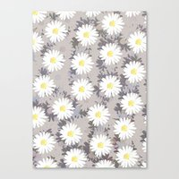 daisies Canvas Prints featuring Daisies by Georgiana Paraschiv