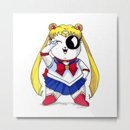 Sailor Moon Cat Metal Print