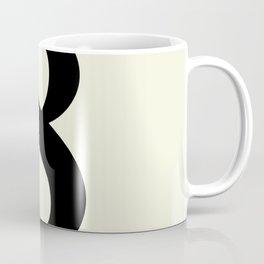 8 (BLACK & BEIGE NUMBERS) Coffee Mug