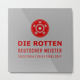 Bayern Munchen Champions Metal Print