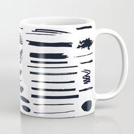 Vector shabby, grunge, ink pen strokes brushes, abstract art Coffee Mug