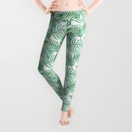 Palm Leaves_Bg White Leggings