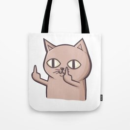FU Cat Tote Bag