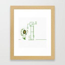 Robot and Rini Framed Art Print