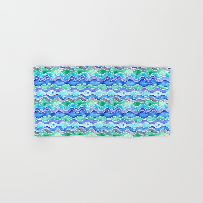 Ocean Pattern - Dolphin Hand & Bath Towel