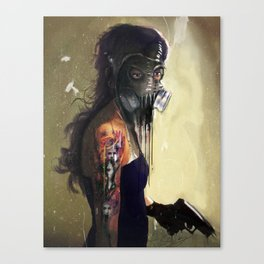 Fighting In a Dream  Canvas Print