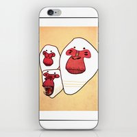 planet of the apes iPhone & iPod Skins featuring Apes by Federica Amico