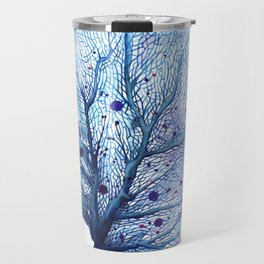 Fan Coral - Blue Travel Mug