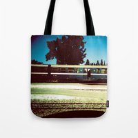 train Tote Bags featuring Train by Ibbanez
