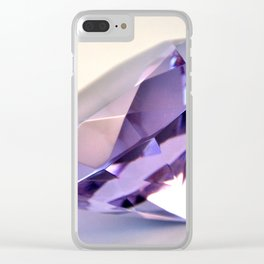 Purple Diamond Clear iPhone Case
