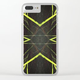 518 - Abstract grass design Clear iPhone Case