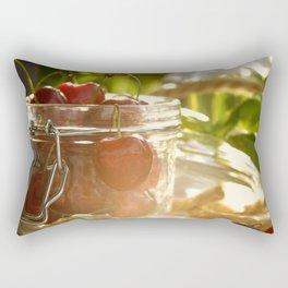 Fresh cherrie in glass Rectangular Pillow