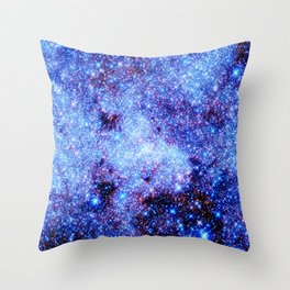 GAlaxy Periwinkle Stars Throw Pillow