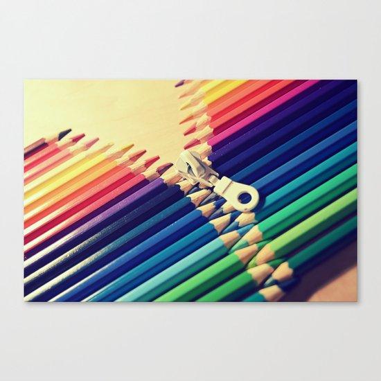 Crayon Zip Canvas Print