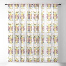 Winking owl pattern Sheer Curtain