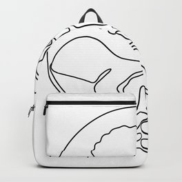 Tree on Palm of Hand Continuous Line Backpack