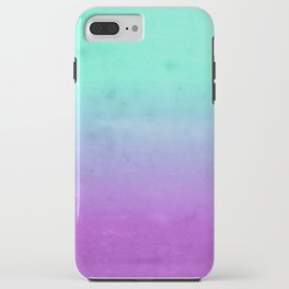 Purple Mint Turquoise Grunge Ombre Colors iPhone Case