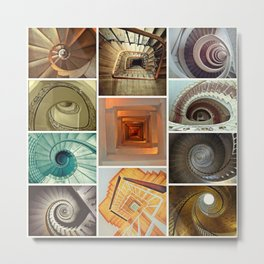 stairs stairs stairs collage Metal Print