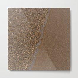 Patterns in sea water Metal Print
