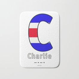 Charlie - C - Navy Alphabet Bath Mat