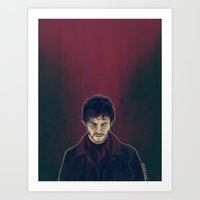will graham Art Prints featuring Will Graham by margaw