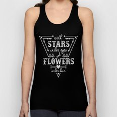 Stars in Her Eyes Flowers in Her Hair Unisex Tank Top