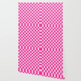 Pink Check Wallpaper
