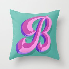 Letter B - 36 Days of Type Throw Pillow