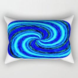 Blue Ball Swirl Rectangular Pillow
