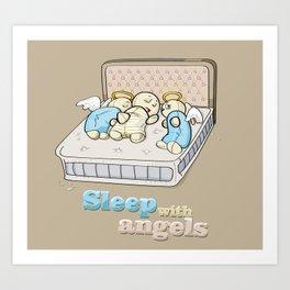 Sleep with angels Art Print