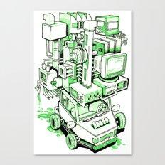 Green Machine Car Canvas Print