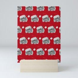 Tiger Santas in Red Mini Art Print