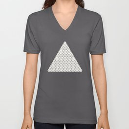 Lichtenberg-Mayer Colour Triangle with letters and numbers, Remake of Mayer's original illustration Unisex V-Neck