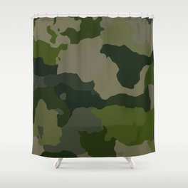 Shades of Green Camo Shower Curtain