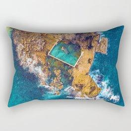 Global Peninsula View (Color) Rectangular Pillow