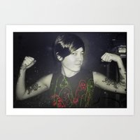 tegan and sara Art Prints featuring Tegan by Virginie Le Guen-Bertheaume