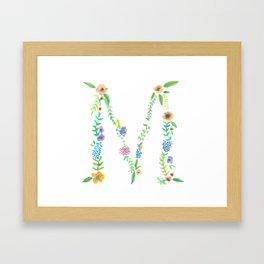 Floral M Framed Art Print