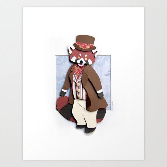Mr. Red Panda Art Print