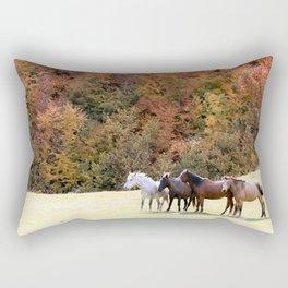 Horses Valley Rectangular Pillow