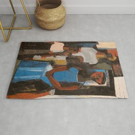 African-American Masterpiece 'Harlem Family' portrait painting by Charles Henry Alston Rug