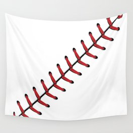 Baseball Lace line Wall Tapestry