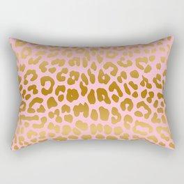 Leopard (Pink & Gold) Rectangular Pillow