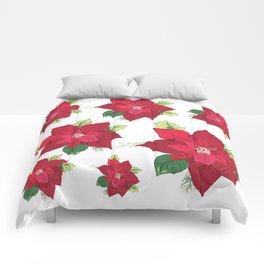 Christmas Poinsettia Comforters